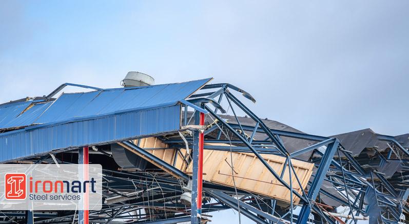 تخریب سازه فلزی در اثر زلزله
