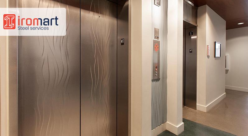 نصب ورق استیل در آسانسور