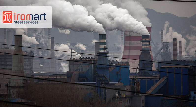 کارخانههای فولادسازی یکی از منابع انتشار گازهای گلخانهای
