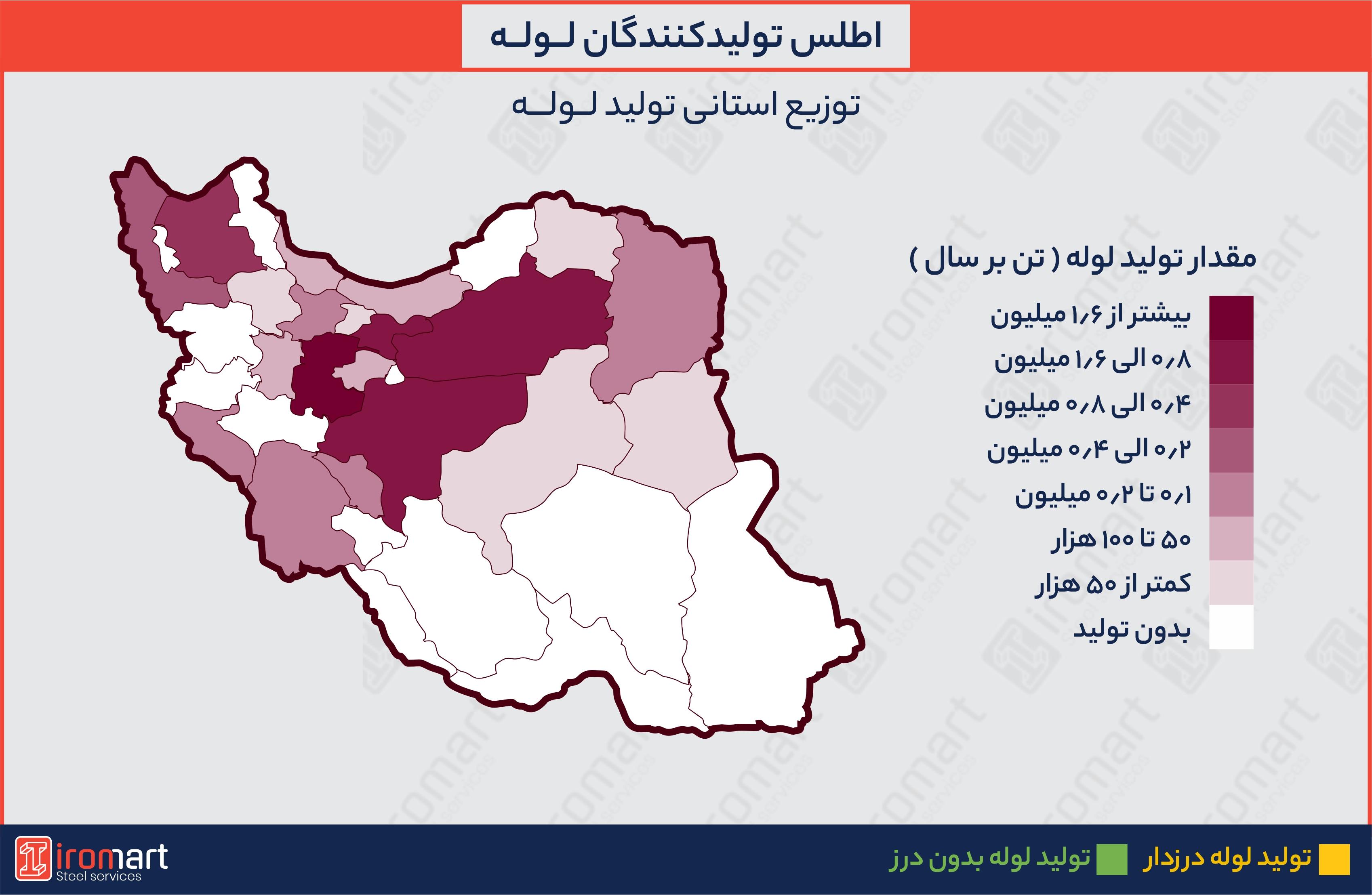 اطلس تولیدکنندگان لوله فولادی در ایران
