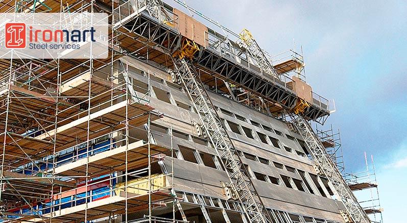 شاسی کشی و زیرسازی نمای ساختمان